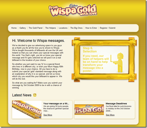 Wispa Gole Messages