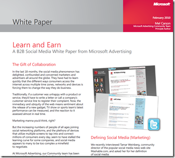 social media marketing white paper If your practice is new to social media marketing or has been using it for a while, this free white paper will help stir creative ideas for your marketing.