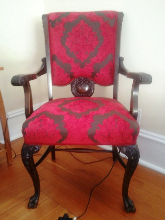 Antique Chair Upholstery Before After Mel Carson