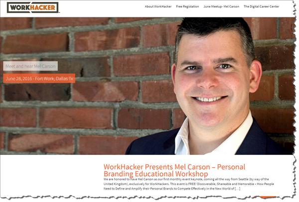 Mel Carson Workhacker.org